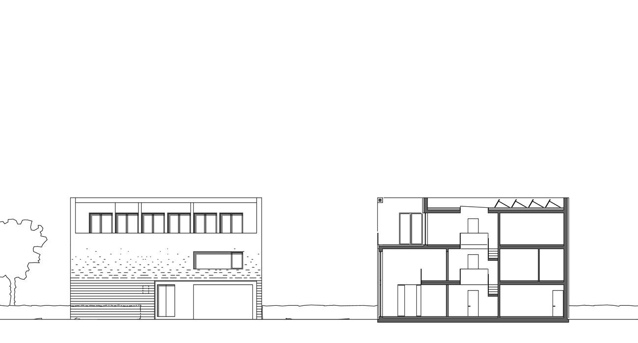 Architektur-Stadtvillen-Bremen-06-Ansicht-Schnitt-TypB-2009