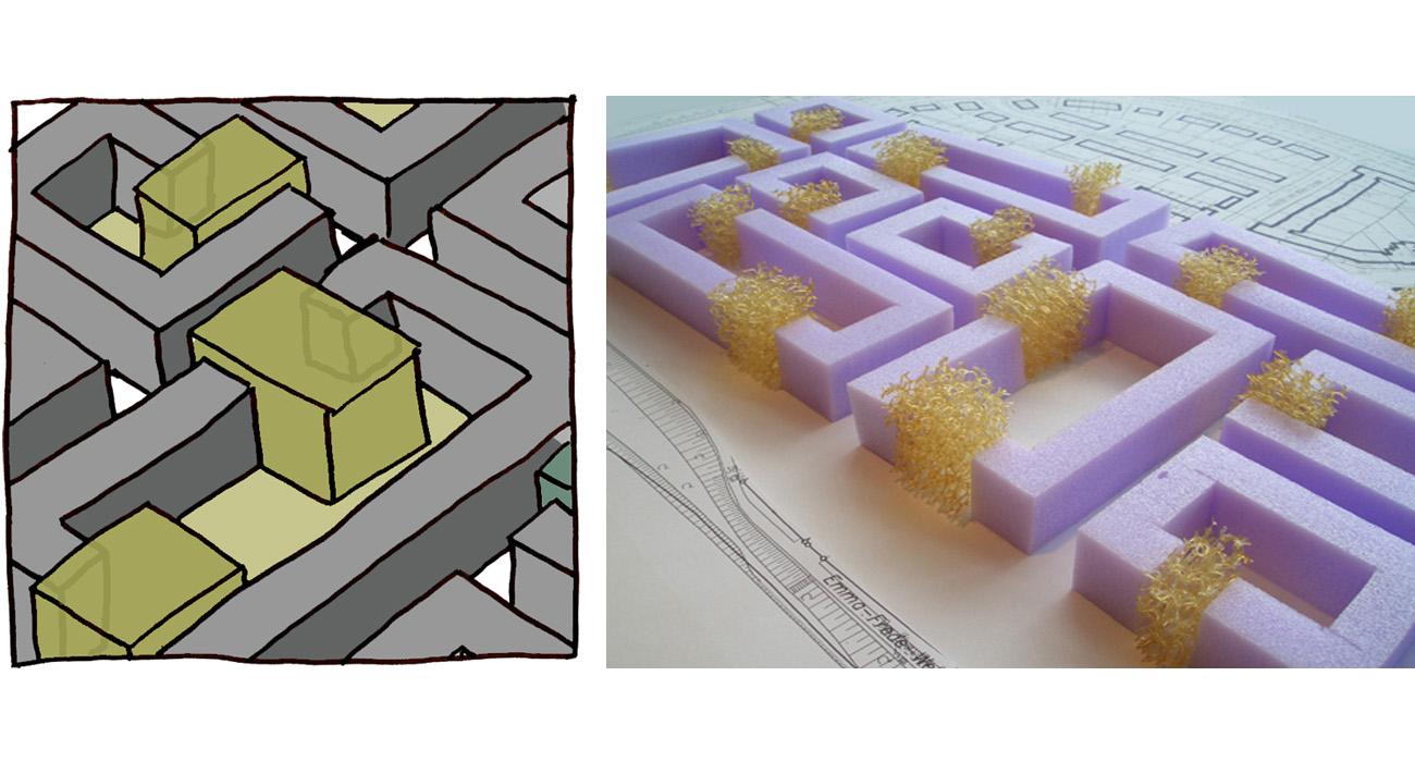 Städtebau-Zwischengrünraum-02-Skizze-2010